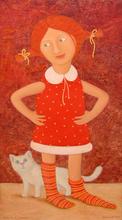 "Roman ANTONOV - Gemälde - ""Girl in golfs"""