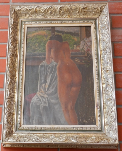 Tibor DURAY - Pittura - female nude by the window