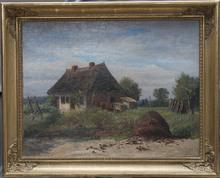 Hugo DARNAUT (1851-1937) - Landschaft mit Bauernhaus