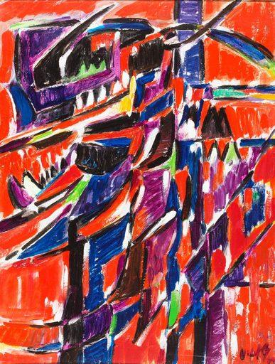 Oswaldo VIGAS - Peinture - Trepador