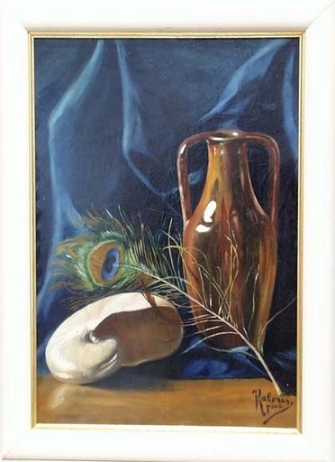 "Josef KALOUS - Pittura - ""Art Nouveau Still Life"" by Josef Kalous, ca 1910"