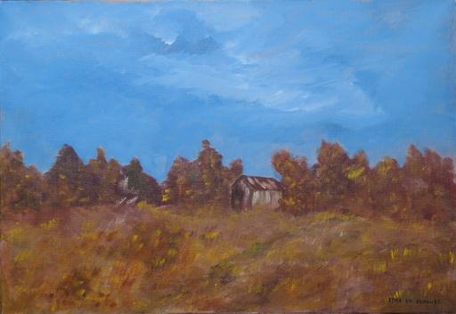 Kyna DE SCHOUEL - Peinture - Petite maison dans les bois