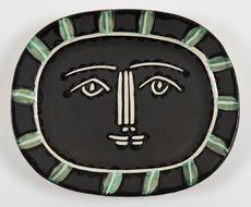 巴勃罗•毕加索 - 陶瓷  - Visage Gris