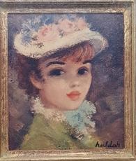 Cherry Jeffe HULDAH - Peinture - Portrait of a Woman