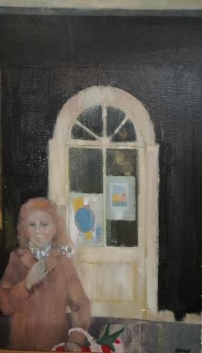 Odette DERAY - Painting - Jeune fille au panier
