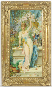 "Hans ZATZKA - 绘画 - ""Time of blooming"" late 19th century"