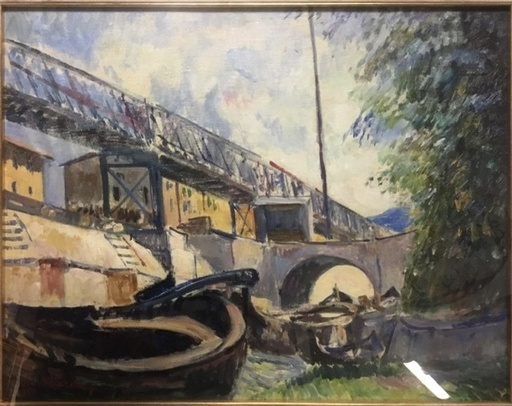 Umberto VITTORINI - Pintura - CANALE DEI NAVICELLI - Pisa
