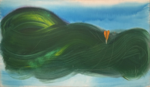 Jean MESSAGIER - Pintura - Le crocus géant, 1987