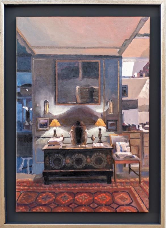 Simon ANDREW - Painting - Two Lamps, Trereife