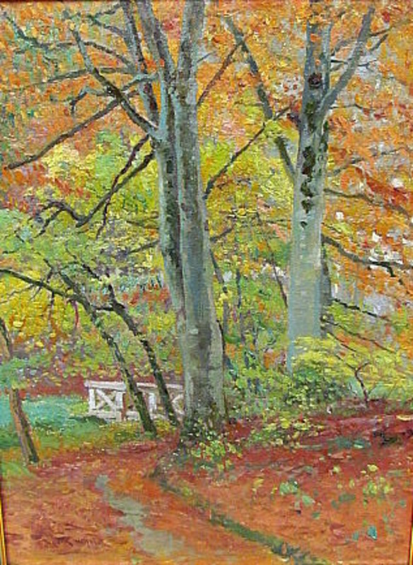 Max KUCHEL - Painting - Herbstlicher Buchenwald