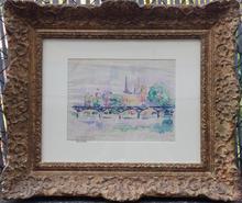 Paul SIGNAC - Drawing-Watercolor - PARIS 1913