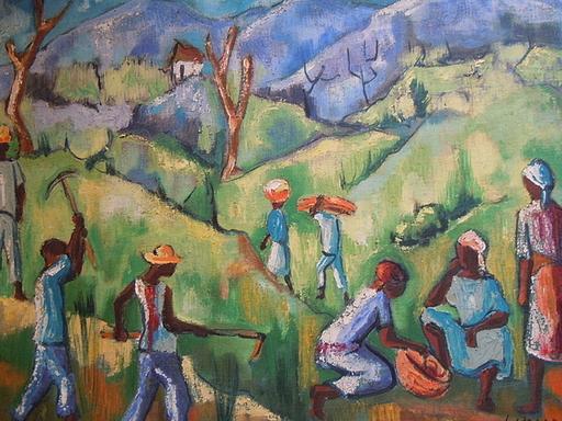 Luckner LAZARD - Painting - Combite