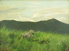 Wilhelm KUHNERT - Painting - ZEBRAS