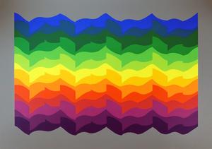 Julio LE PARC - Print-Multiple - Ondes Alternées à partir d'un thème de 1972