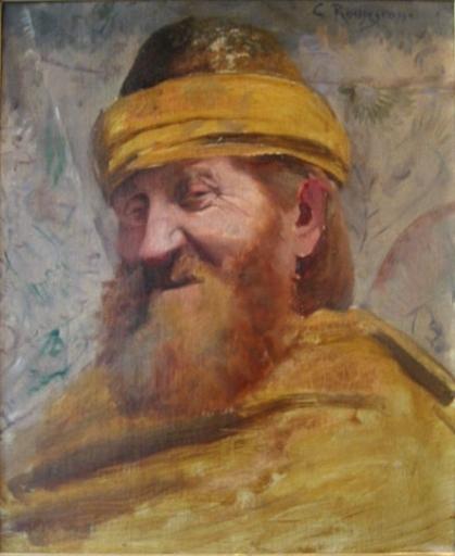 Georges Antoine ROCHEGROSSE - Peinture - Potrait d'homme