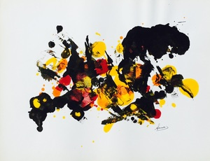 Albert MASOIN - Peinture - ABSTRAIT LYRIQUE