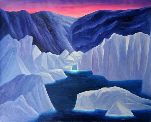 Pino DEODATO - Painting - Il lago ghiacciato