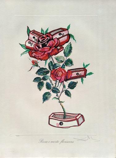 Salvador DALI - Print-Multiple - Surrealist Flowers: Roses of memory