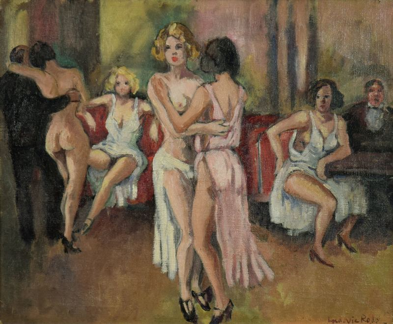 Ludovic Rodo PISSARRO - Painting - Maison de Filles