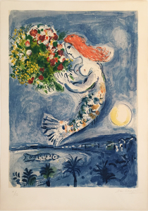 Marc CHAGALL - Estampe-Multiple - La Baie des Anges, 1962