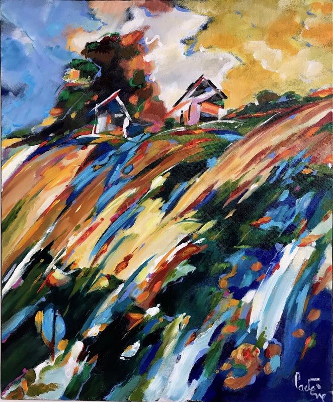 Bernard CADENE - Peinture - Août aux Adrets