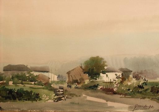 Julio QUESADA GILABER - Drawing-Watercolor - Paisaje