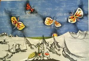 Jean LURÇAT - Estampe-Multiple - les papillons