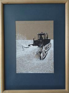 Ohanyan KAMSAR - Disegno Acquarello - To clean the snow