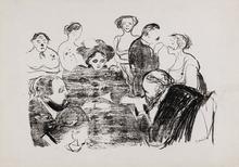 Edvard MUNCH - Grabado - Women in the Hospital 1896