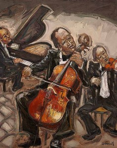 William FENECH - Peinture - le violonceliste