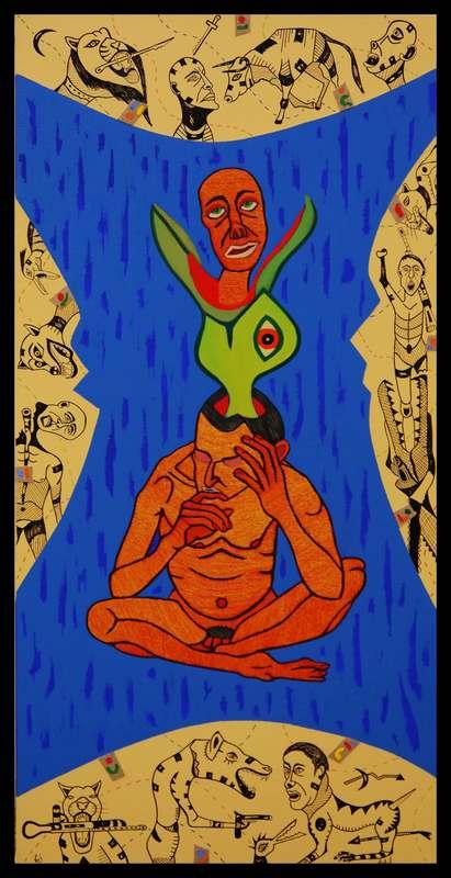 KEJ - Painting - Cauchemar du Prédateur