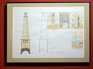 Guillermo PÉREZ VILLALTA - Drawing-Watercolor - Torre faro de las virtudes