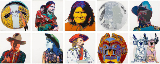 Andy WARHOL - Stampa-Multiplo - Cowboys and Indians Complete Portfolio (FS II.377-386)