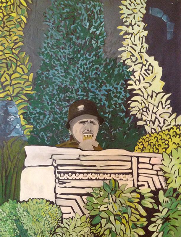 Eduardo ARROYO - Painting - Eduardo entre el Goloso y el Pardo