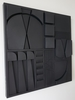 Jorge SALAS - Sculpture-Volume - Black Composition - Soto's Memory