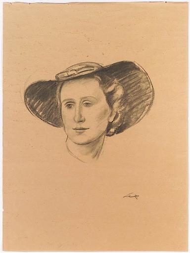"Franz LEX - Zeichnung Aquarell - ""Female Portrait"", 1930s"