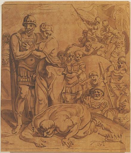 Theodor VAN THULDEN - 水彩作品 - Antique Scene, 17th Century