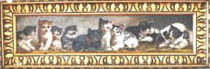 Louis Eugène LAMBERT - Pintura - Zehn kleine Kätzchen