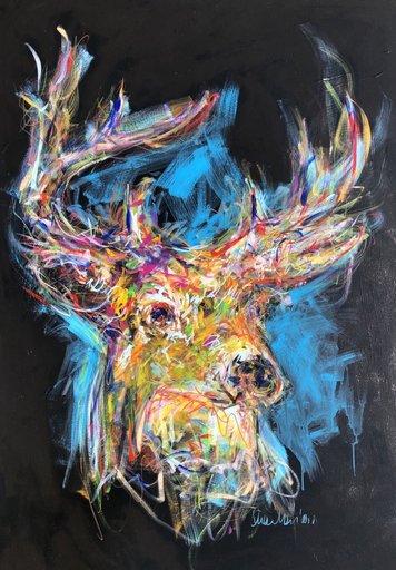 Nicole LEIDENFROST - Gemälde - Die Wildnis ruft