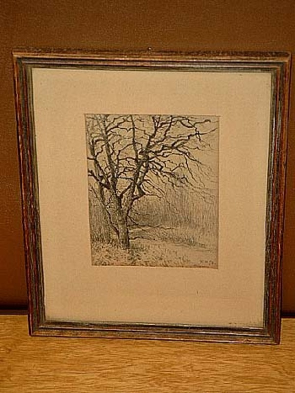 Rudolf HÖCKNER - Dessin-Aquarelle - Ein Baum