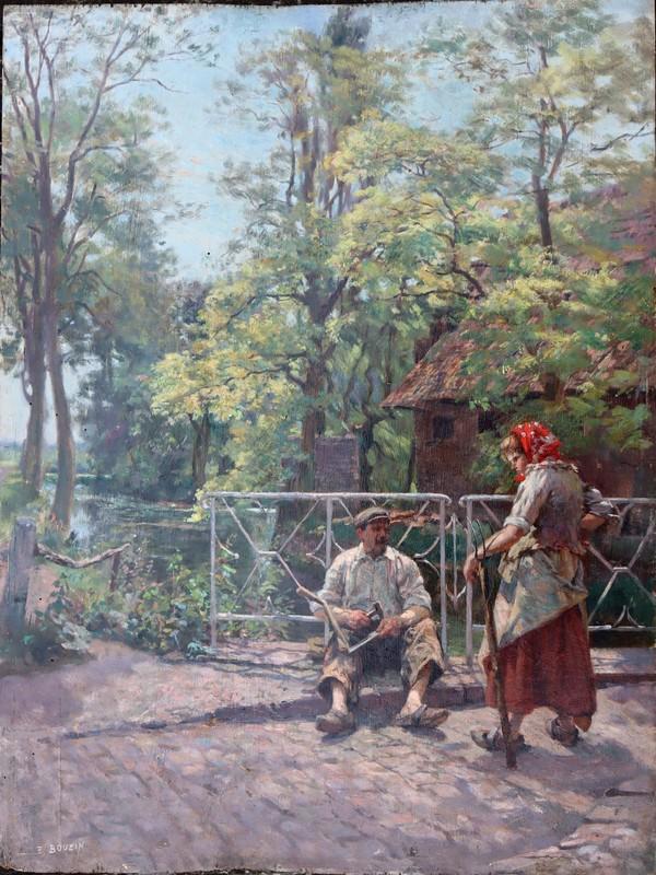 """Émile BOUZIN - Pintura - """"LE RABATTEUR DE FAUX"""""""