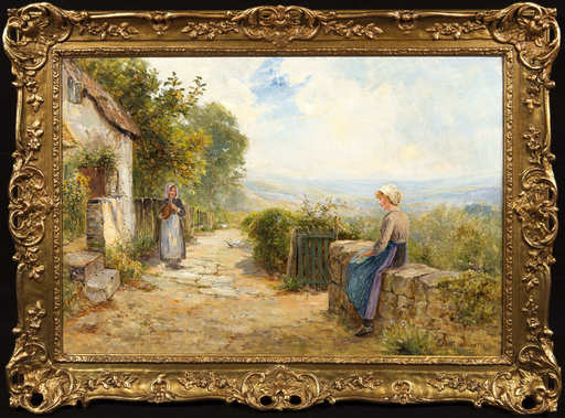 Ernest Charles WALBOURN - Pintura - The Green Gate