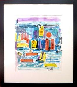 Jean-Luc BEAUFILS - Drawing-Watercolor - le port