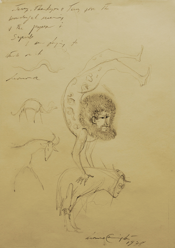 Leonora CARRINGTON - Dibujo Acuarela - Untitled
