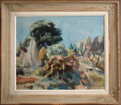 Léopold LÉVY - Painting - Paysage de Provence