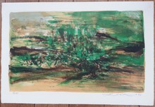 ZAO Wou-Ki - Print-Multiple - Composition en verte (Ager. 156)