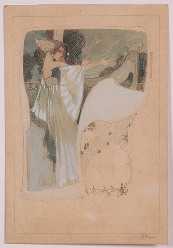 Sergius HRUBY - Disegno Acquarello - Viennese Jugendstil, 1900, Drawing