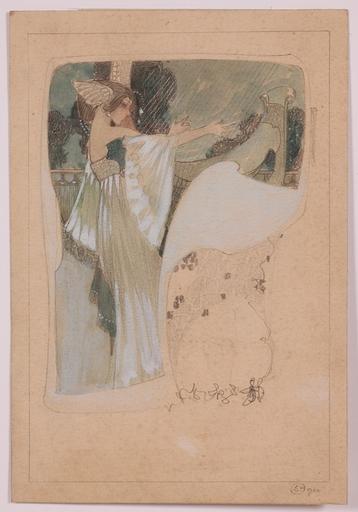 Sergius HRUBY - Drawing-Watercolor - Viennese Jugendstil, 1900, Drawing