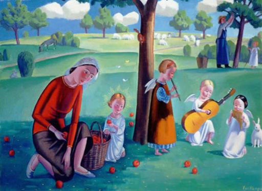 Jan KNAP - Gemälde - Concerto di angeli