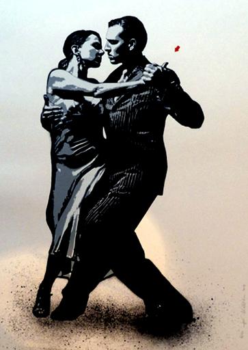 JEF AÉROSOL - Estampe-Multiple - Tango